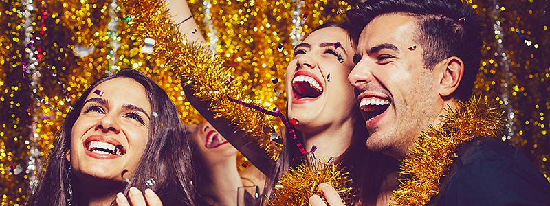 Nyår, dekoration och dukning