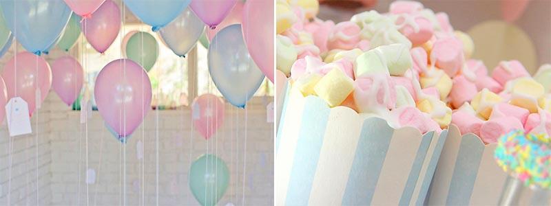 Pastell, babyshower, kalas, temafest