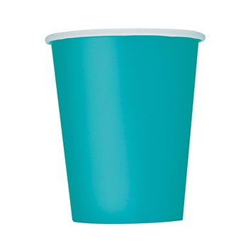 Pappersmugg Havsblå - 8st, 266ml