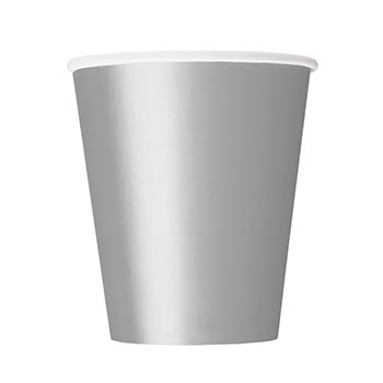 Pappersmugg Silver - 8st, 266ml