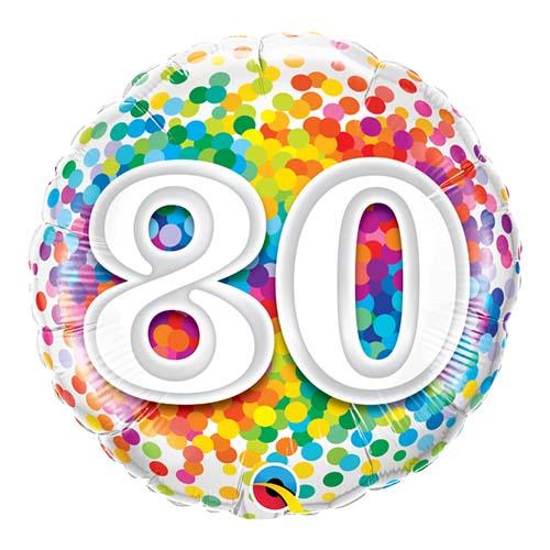 80 r folieballong konfetti 46cm party - Clipart anniversaire 60 ans ...