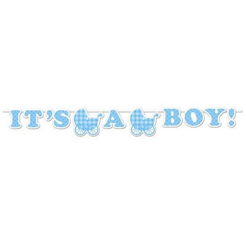 Vimpel / Banner I'ts a Boy,Baby Shower 1,7m