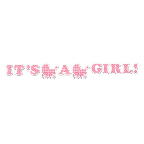 Vimpel / Banner I'ts a Girl, Baby Shower 1,7m