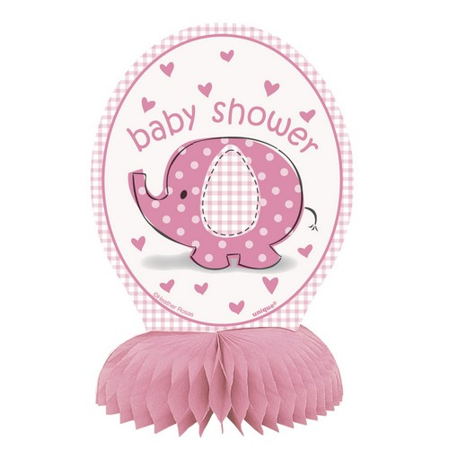 Bordsdekoration Babyshower, Rosa.  4st