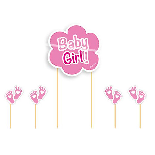 Cupcake Toppers Baby Girl - 5st