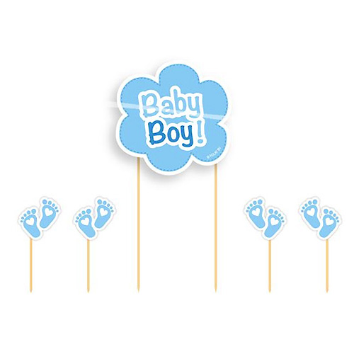 Cupcake Toppers Baby Boy - 5st