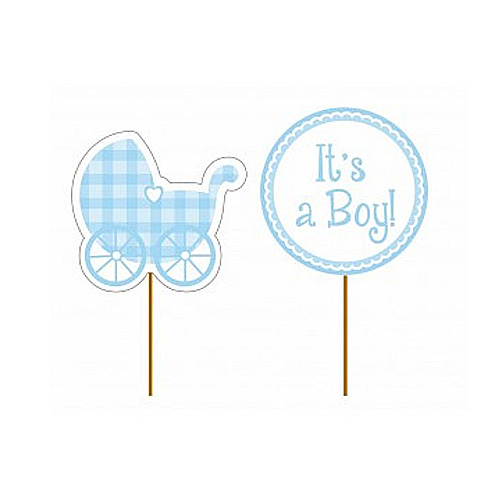 Cupcake Toppers It´s a Boy - 12st, ca. 9cm höga