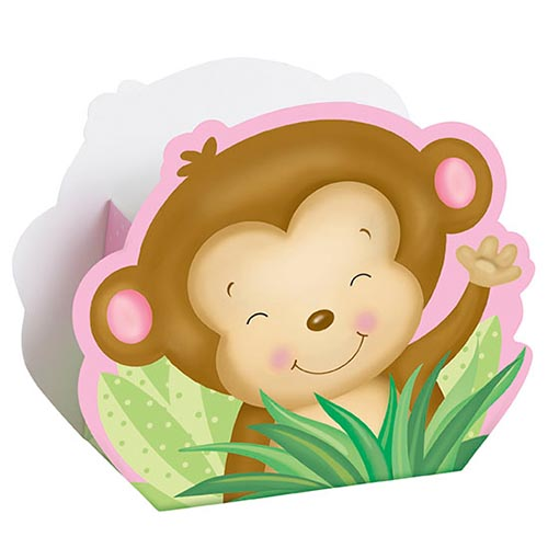 Box, Rosa Baby Monkey - 8st