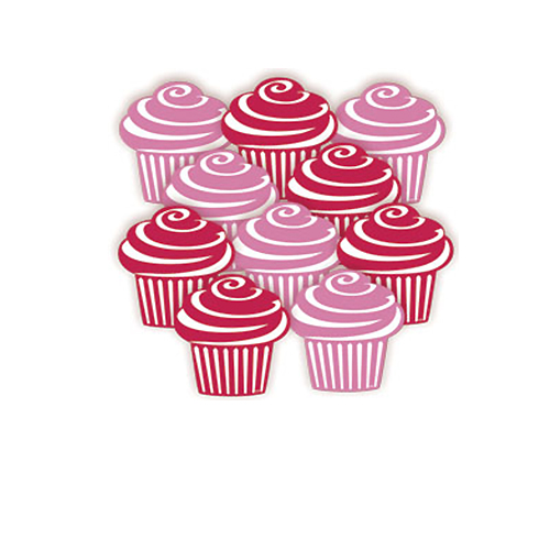 Cutout Mini Cupcakes 10st