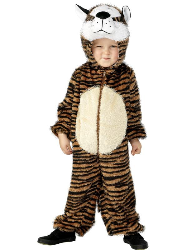 Tiger Barn Maskeraddräkt. Jumpsuit med Luva 28a41e604528c