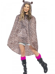 Leopard Party Poncho / Regnponcho
