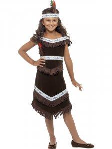1044775c2463 Indian Tjej, Klänning Barn Maskeraddräkt Strl L