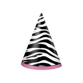 Party Hatt Zebra Passion 8st
