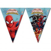 Flaggbanner, Spindelmannen Web-Warriors - 2,3m