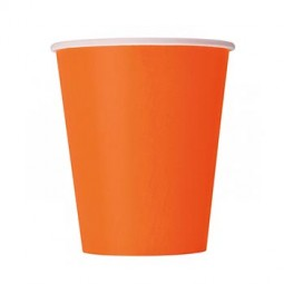 Pappersmugg Orange - 8st, 266ml