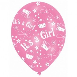 Ballong I'ts a Girl, Baby Shower 6st