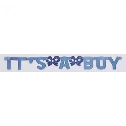 Vimpel / Banner I'ts a Boy, Baby Shower 110cm