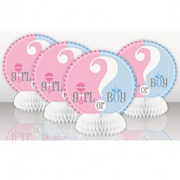 Bordsdekoration Gender Reveal - 4st, 15cm