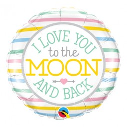 Love You To The Moon - 46cm, Folieballong