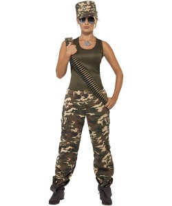 Kamouflagedräkt Kvinna Maskeraddräkt - Strl L 99c53864306c1