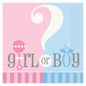 Servetter Gender Reveal - 20st, 33x33cm