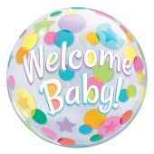 Welcome Baby Bubbelballong  - 56cm